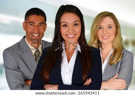Business Team of Men and Women at Office - stock photo