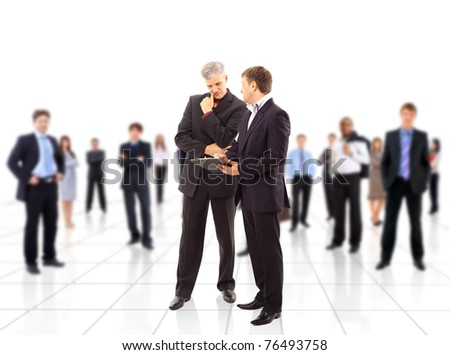 Business team or group at a meeting - stock photo