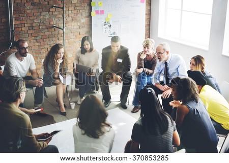 Business Team Organization Brainstorming Concept - stock photo