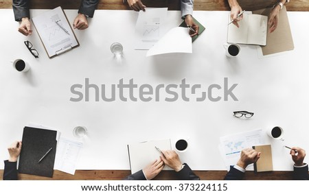 Business Team Planning Strategy Concept - stock photo