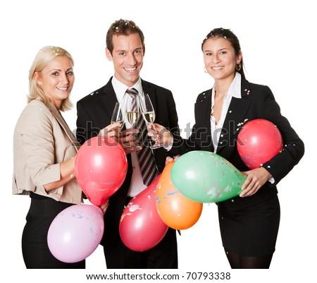 Business team selebrating success - stock photo