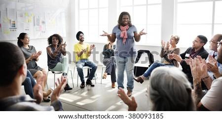Business Team Seminar Listening Meeting Concept - stock photo