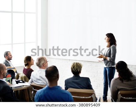 Business Team Seminar Listening Meeting Concept - stock photo