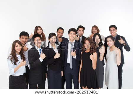 Business Team showing thumb. - stock photo