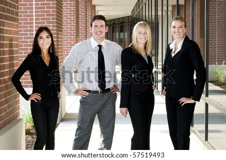 Business team smilng