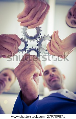 Business team solving a problem in the office - stock photo