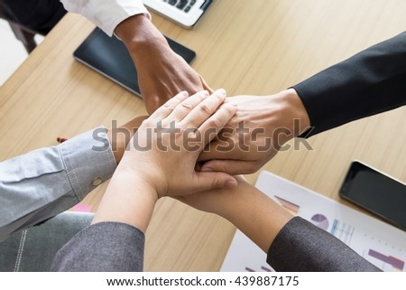 Business Team Teamwork Partnership Together Concept. - stock photo