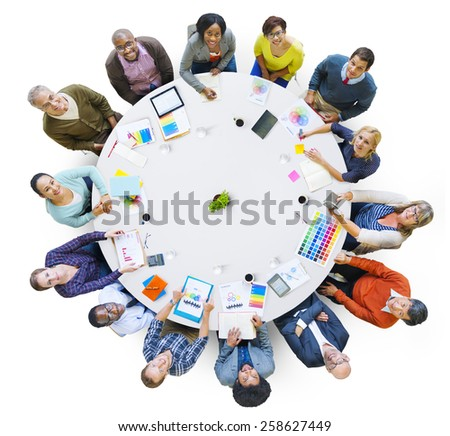Business Team Teamwork Working Together Concept - stock photo