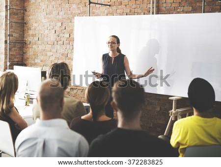 Business Team Training Listening Meeting Concept - stock photo