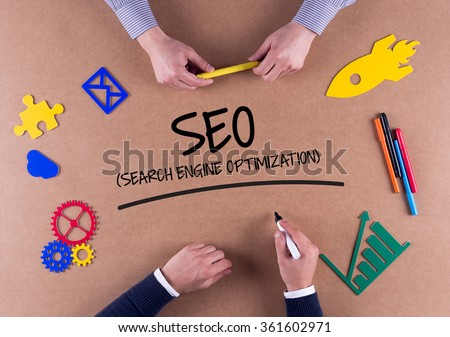 Business Team with a single word DIGITAL MARKETING - stock photo
