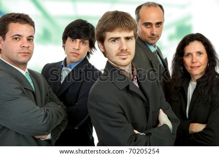 business team work at the office building - stock photo