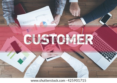 Business team working and Customer concept - stock photo