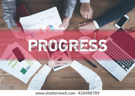 Business team working and Progress concept - stock photo