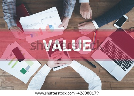 Business team working and Value concept - stock photo