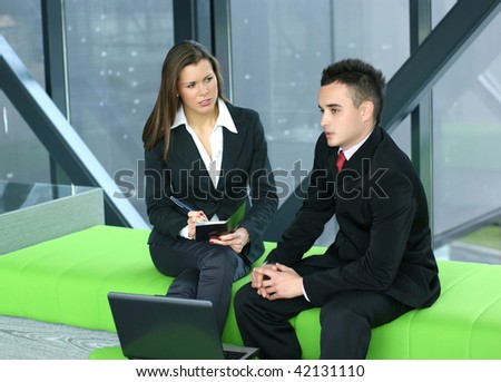 Business team working in modern office