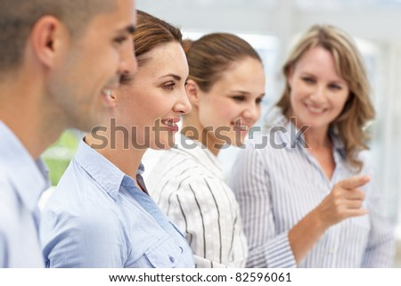 Business team working together - stock photo