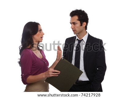 Business team working together for reaching success - stock photo