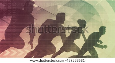 Business Team Working Together to Achieve Better Results 3D Illustration - stock photo