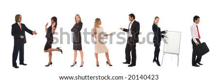 business teamwork concept with lots of different business people - stock photo