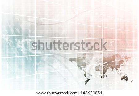 Business technology background world map online ilustracin en stock business technology background with world map online gumiabroncs Images