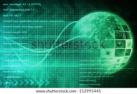 Business Technology Concept as a Abstract Art - stock photo