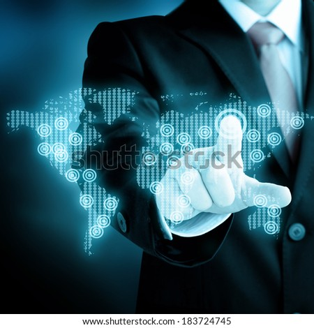 business, technology, internet and networking concept - stock photo