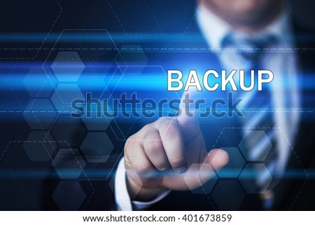business, technology, internet and virtual reality concept - businessman pressing backup button on virtual screens with hexagons and transparent honeycomb