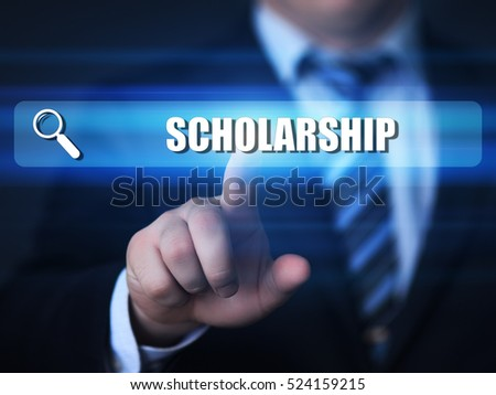 business, technology, internet concept. scholarship text in search bar.