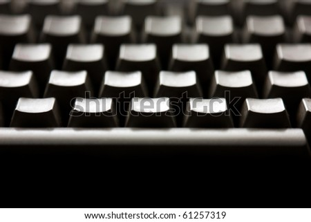 Business technology laptop computer keyboard key