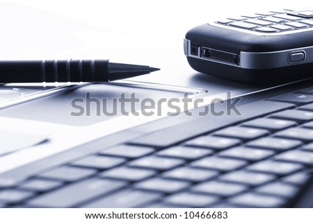 business technology, laptop, phone