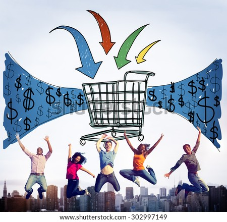Business Technology Shopping Online Browsing Concept - stock photo