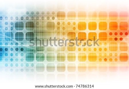 Business Technology with a Corporate Abstract Art - stock photo