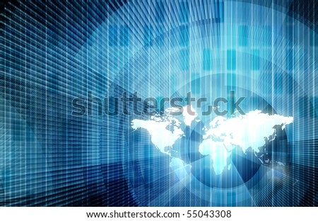 Business Technology with a Global Team Concept - stock photo