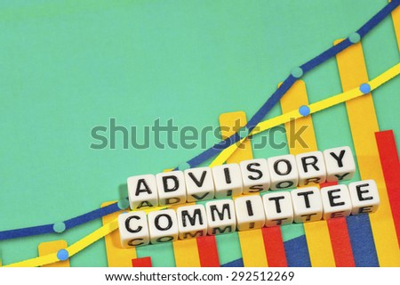 Business Term with Climbing Chart / Graph - Advisory Committee - stock photo