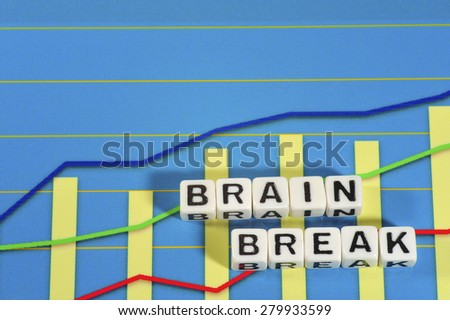 Business Term with Climbing Chart / Graph - Brain Break - stock photo