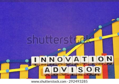 Business Term with Climbing Chart / Graph - Innovation Advisor - stock photo