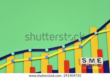 Business Term with Climbing Chart / Graph - SME - stock photo