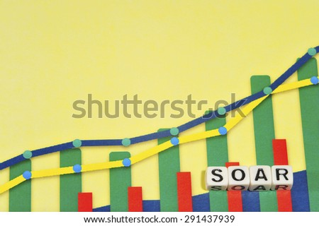 Business Term with Climbing Chart / Graph - Soar - stock photo