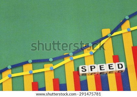 Business Term with Climbing Chart / Graph - Speed - stock photo