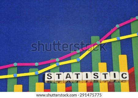 Business Term with Climbing Chart / Graph - Statistic - stock photo