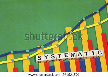 Business Term with Climbing Chart / Graph - Systematic - stock photo