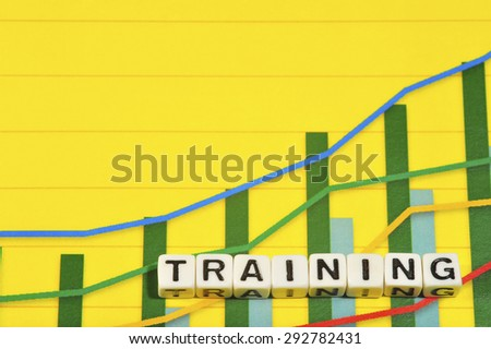 Business Term with Climbing Chart / Graph - Training - stock photo