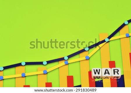 Business Term with Climbing Chart / Graph - War - stock photo