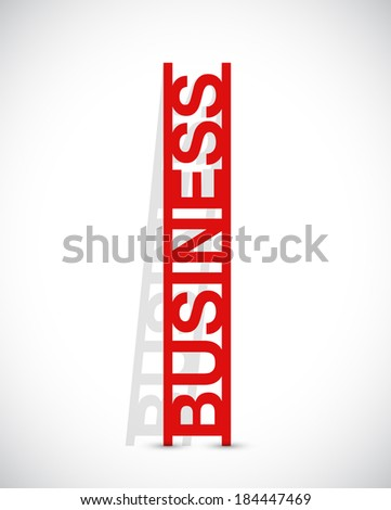business text ladder concept illustration design over a white background