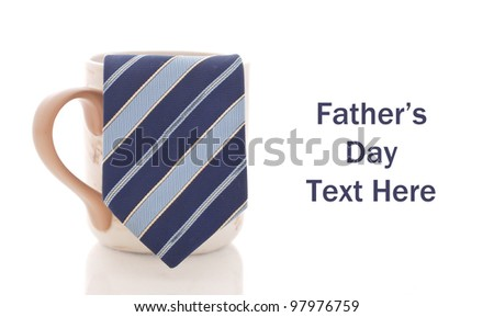 Business Tie in Coffee Mug with Space for Custom Text - stock photo
