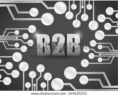 business to business circuit boards illustration design over a black background - stock photo