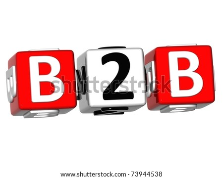 Business to Business crossword - stock photo