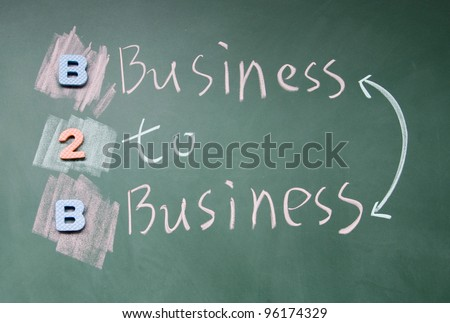 business to business sign - stock photo