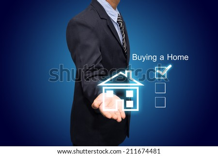 Business to Buy a House - stock photo