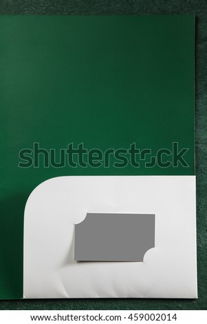 Business tool document holder die cut stock photo 100 legal business tool document holder with die cut for name card reheart Image collections